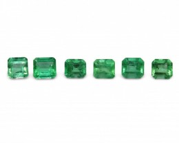 Emerald 4.65 cts 6st Emerald Cut WHOLESALE LOT