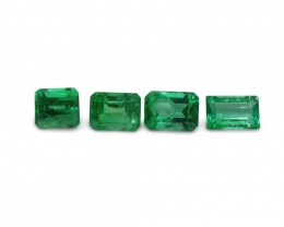 Emerald 2.53 cts 4st Emerald Cut WHOLESALE LOT