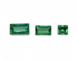 Emerald 1.63 cts 3st Baguette  WHOLESALE LOT