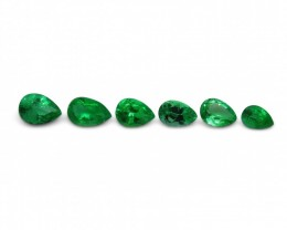 Emerald 1.91 cts 6st Pear WHOLESALE LOT