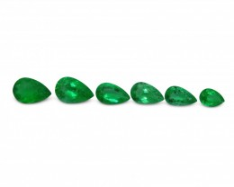 Emerald 3.13 cts 6st Pear WHOLESALE LOT