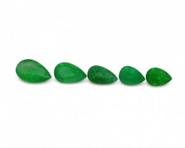 Emerald 1.97 cts 5st Pear WHOLESALE LOT