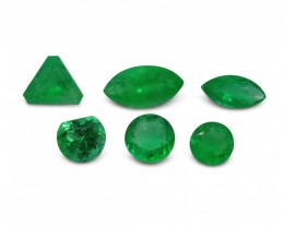 Emerald 3.13 cts 6st Round/Marquise/Trillion/Fancy WHOLESALE LOT