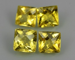 1.15 CTS.REMARKABLE! SQARE FACET GOLDEN BERYL NATURAL NR!