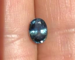 1.14 ct sapphire certified Sri Lanka bluish green.