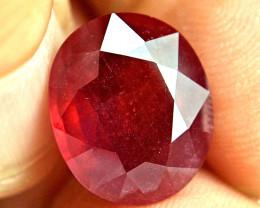 13.49 Carat Fiery Pigeon Blood Ruby