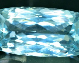 38.90 cts Flawless Aqua Color Natural Kunzite Gemstone