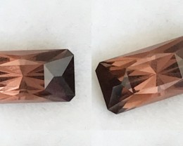4.43 ct Designer Cut Wood Brown - Orangey Tourmaline - Nigeria F120