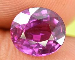 Certified 2.23 cts Great Purplish Pink Round Cut Sapphire Gemstone ~ 5000 $