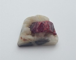 21.5ct Natural Drusy ruby Gemstone Rough (18053103)