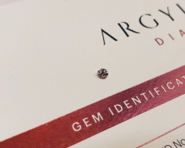 0.10ct 7PR SIAV Certified Argyle Pink Diamond