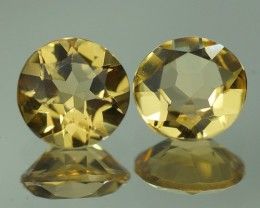 1.31 ct  AAA QUALITY YELLOW BERYL  PAIRS - YB87