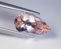3.55 ct  Fantastic Pear Cut Top Grade Natural Morganite