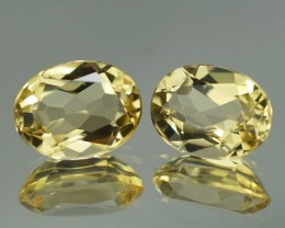 8X6 MM AAA QUALITY YELLOW BERYL PAIR-YB99