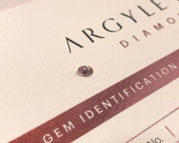 0.18ct 6PP Si2 Oval Cut Certified Argyle Pink Diamond