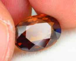 GiL Certified 4.01 ct Orange Zircon Cambodia PRJ.2