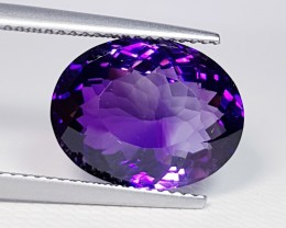 8.60 ct Awesome Oval Cut Natural Bolivia Amethyst