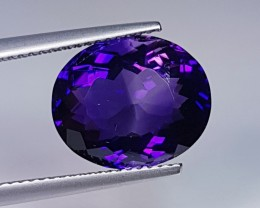 6.97 ct Top Color Stunning Oval Cut Natural Bolivian Amethyst