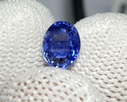 UNHEATED CERTIFIED 1.07 CTS NATURAL BEAUTIFUL BLUE SAPPHIRE CEYLON SRI LANK