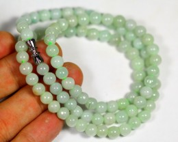 181.0Ct Burmese Type-A Jadeite Jade  Necklace