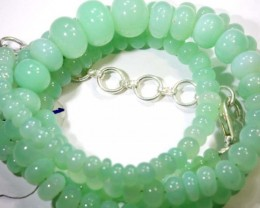 111.60CTS CHRYSOPRASE BEAD STRAND NP-2432