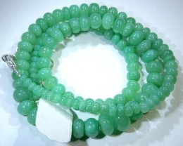 111.95CTS CHRYSOPRASE BEAD STRAND NP-2434