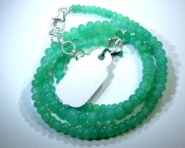 68.85CTS CHRYSOPRASE BEAD STRAND NP-2435