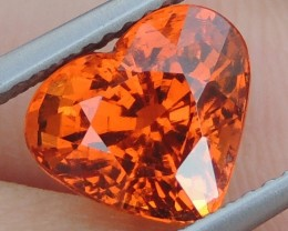 3.76cts  Mandarin Garnet,  Untreated Vivid Stone,  Clean