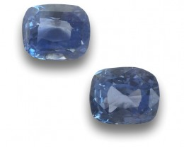 0.78/0.84 Carats | Natural Blue Sapphire Pair|Loose Gemstone|New| Sri Lanka