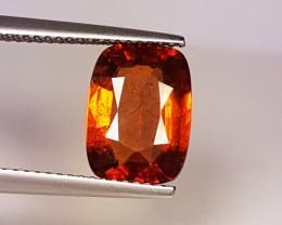 3.82 ct Fantastic Cushion Cut Natural Hessonite Garnet