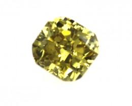 0.21cts Natural Fancy Color Cushion Cut Diamond