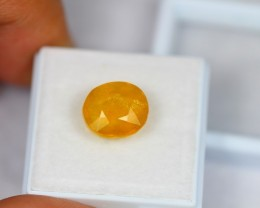 8.21ct Natural Yellow Sapphire Oval Cut Lot GW1512