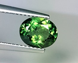 1.54 ct Amazing Green Oval Cut Natural Apatite