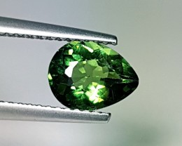 1.35 ct Lovely Green Pear Cut Natural Apatite