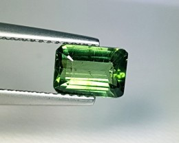 1.27 ct Marvelous Green Emerald Cut Natural Apatite