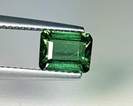1.33 ct Top Luster Green Emerald Cut Natural Apatite
