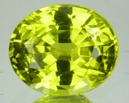 1.27 Cts Natural Lemon Green Chrysoberyl Oval Cut Srilankan Gem
