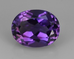 2.50 Cts Natural Purple Amethyst Exquisit oval Cut Glister NR!!!