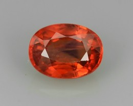 1.35 CTS ALLURING EXTREME FIRE HOT RICH ORANGE SAPPHIRE!!