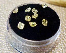 REDUCED (9) Yellow Diamonds Parcel (9) Cushion Cut , 1.825 tcw