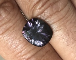 6.61 ct precision cut violet no treatment spinel Burma.