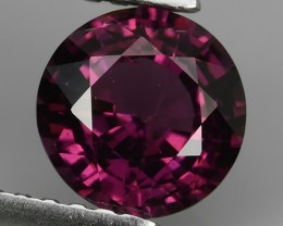 1.35CTS FANTABULOUS NATURAL UNHEATED RHODOLITE 6.50MM ROUND NR!!!
