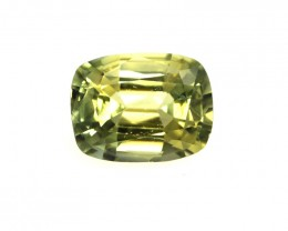 1.40cts Natural Australian Yellow Parti Sapphire Cushion Shape