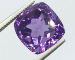 7.12 Crt Natural Amethyst Sparkling Luster Faceted Gemstone (MG 03)