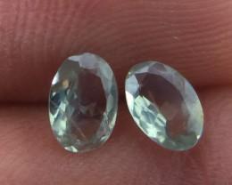 (B4-B) Gorgeous 0.71cts Natural Alexandrite Pear Shape Pair Very RARE!