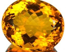 24.24 Cts Natural Golden Orange Citrine Oval Cut Brazil Gem