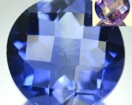 9.51 Cts Natural Color Change Fluorite Nice Round Brazil Gem