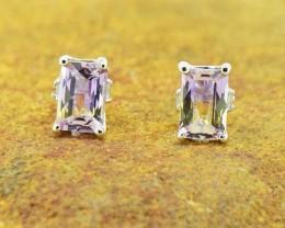 N/R Natural Ametrine 925 Sterling Silver Earrings (SSE0382)