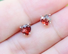 N/R Natural Rhodolite Garnet 925 Sterling Silver Earrings (SSE0380)
