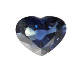3.00cts Natural Australian Blue Sapphire Heart Shape